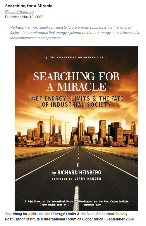 Screenshot der Titelseite_Searching for a miracle by Richard Heinberg Nov 12, 2009 (http://www.postcarbon.org/report/44377-searching-for-a-miracle)