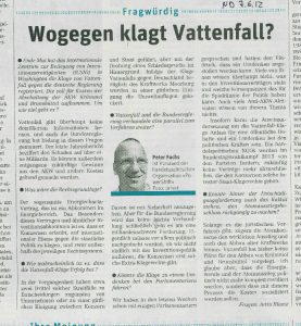 Interview mit Peter Fuchs im ND, 7.6.12