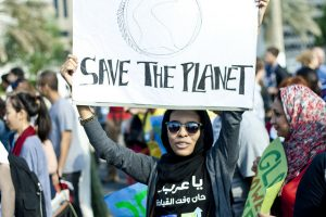 Climate Change March in Doha during the COP