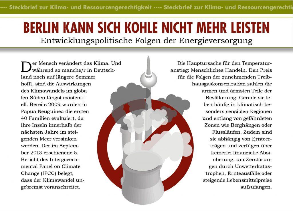 Klima-Steckbrief: Berlin kann sich Kohle nicht mehr leisten