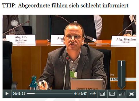 Screenshot vom hier verlinkten Videoclip zu TTIP