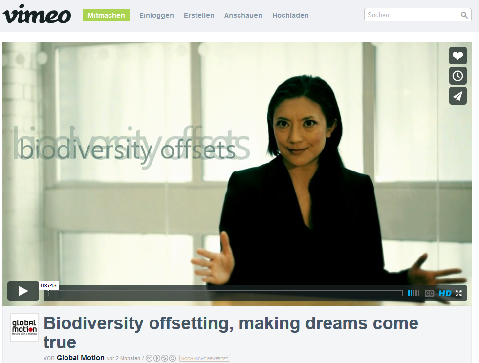 Picture of clip: Biodiversity offsetting on vimeo
