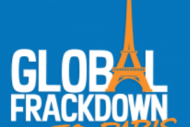 Logo Global Frackdown to Paris
