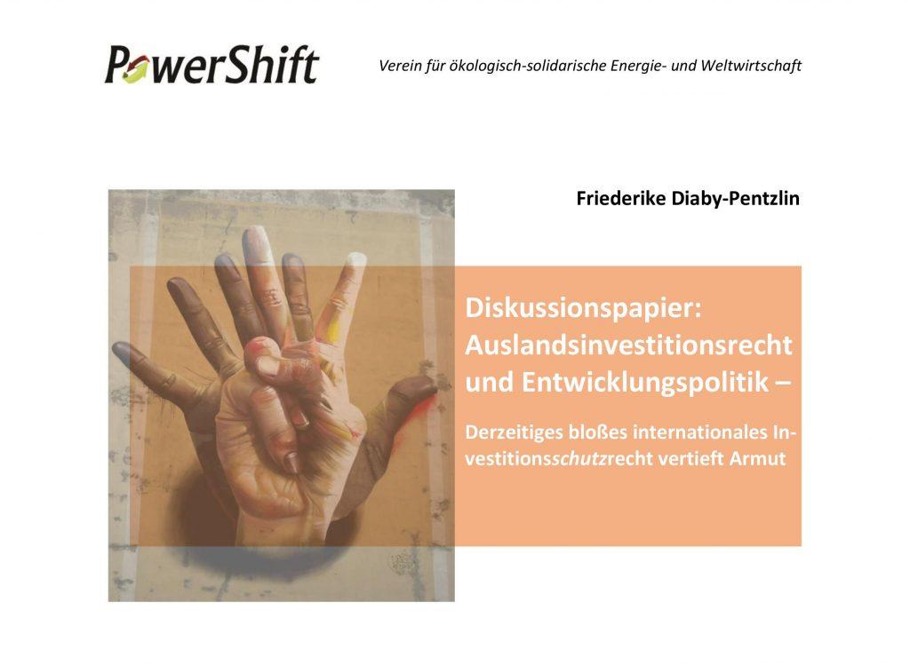 Diskussionspapier: Auslandsinvestitionsrecht und Entwicklungspolitik