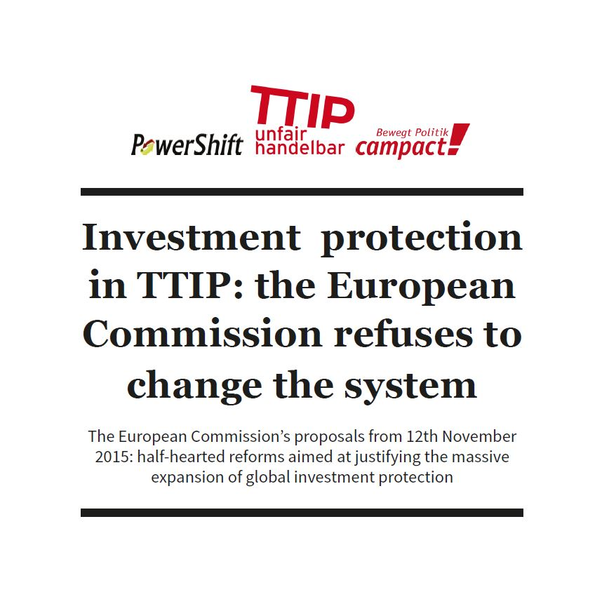Investment Protection in TTIP