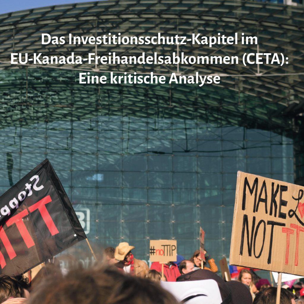 Investitionsschutz in CETA