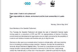 Screenshot Open letter Swedish Parliament