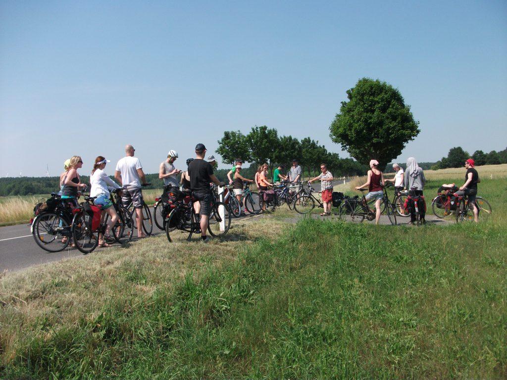 Entwicklungspolitische Radtour in der Lausitz mit Gästen aus Kolumbien am 01.07.2017
