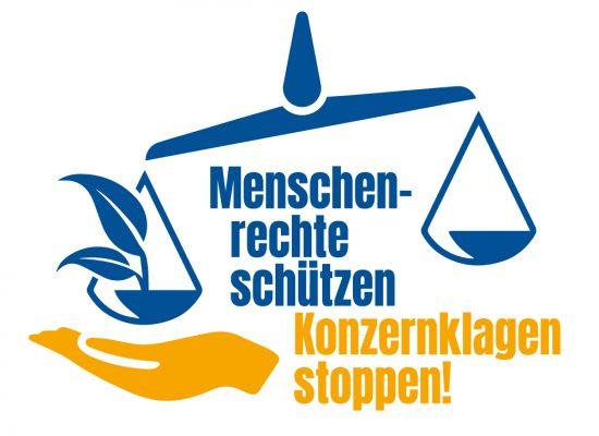 Menschenrechte schützen – Konzernklagen stoppen!