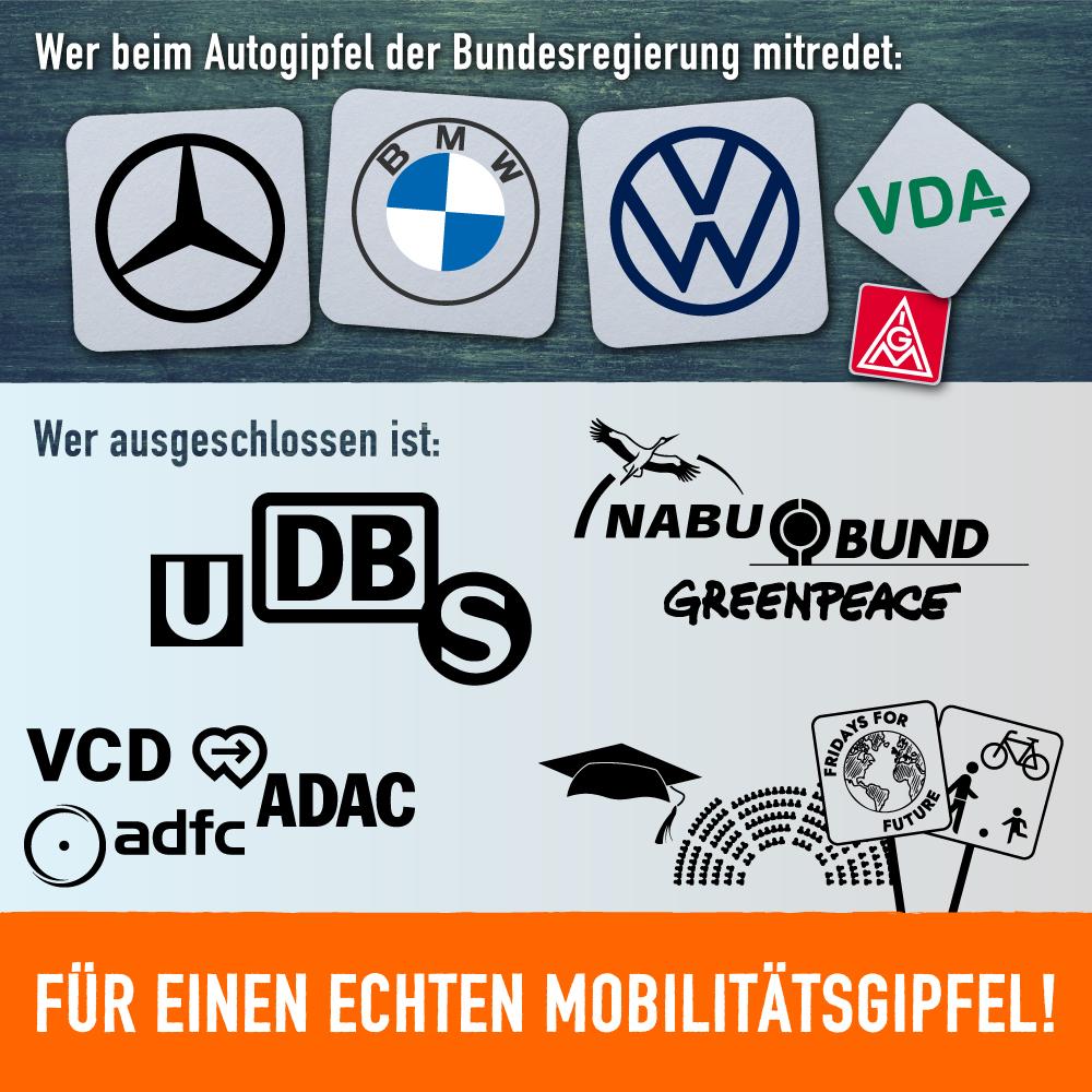 Offener Brief zum geplanten Autogipfel – Wir fordern einen echten Mobilitätsgipfel