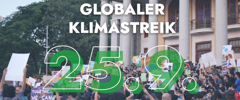 Globaler Klimastreik 25.09., im Bild zu sehen Demonstrierende