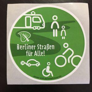 """""""Berliner Straßen für Alle"""" – Sticker Berliner Straßen für alle!"""