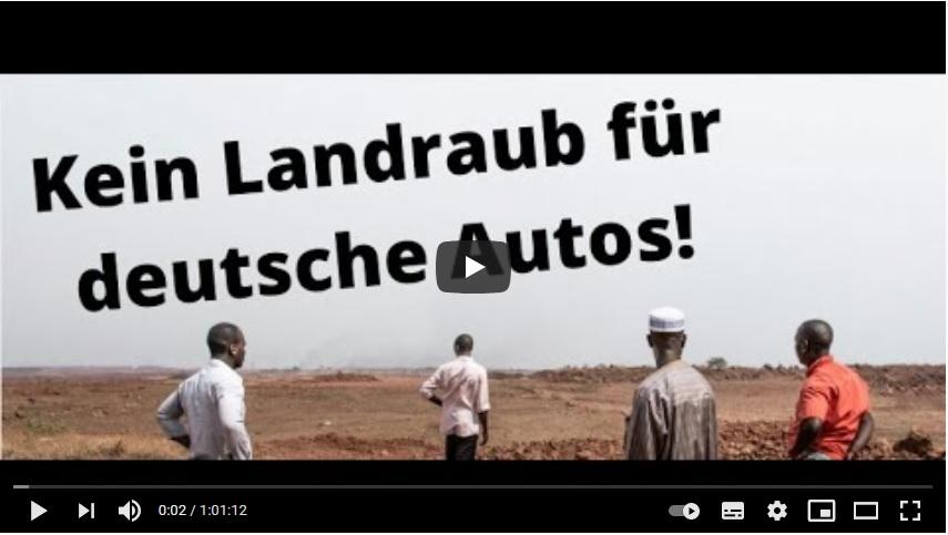 Webinar Mitschnitt: Kein Landraub für deutsche Autos – #StopptUnFaireKredite!