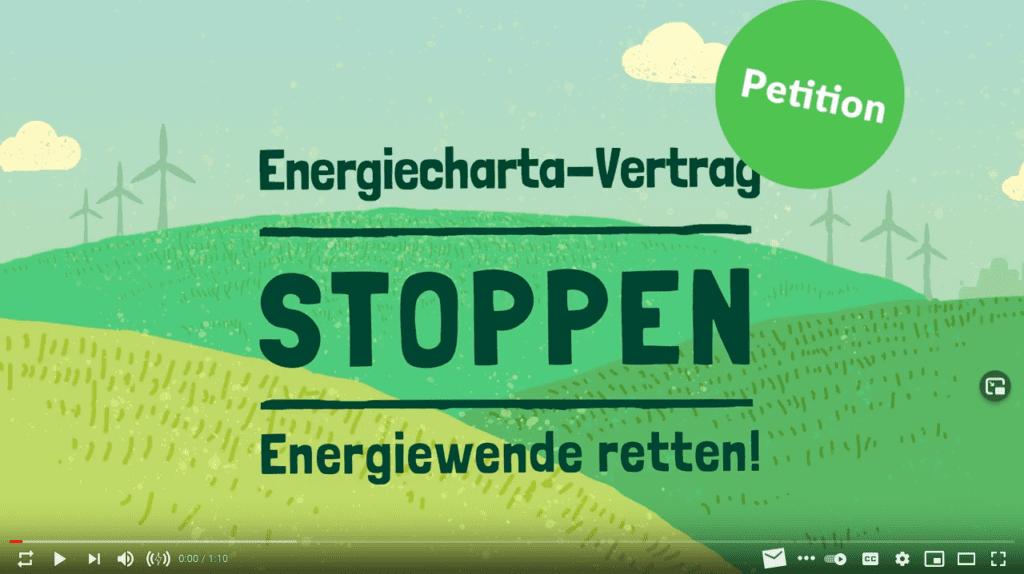 Energiecharta-Vertrag stoppen – Energiewende retten