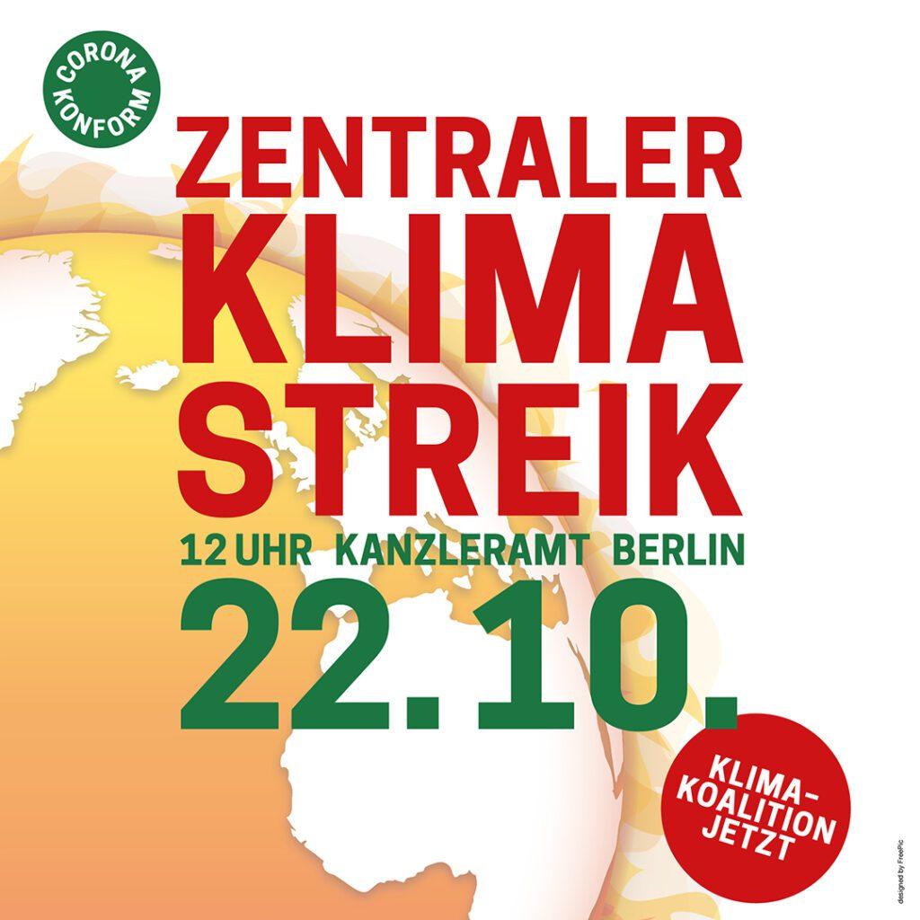 Aufruf zum Klimastreik am 22. Oktober 2021